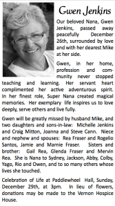 Nana Obituary