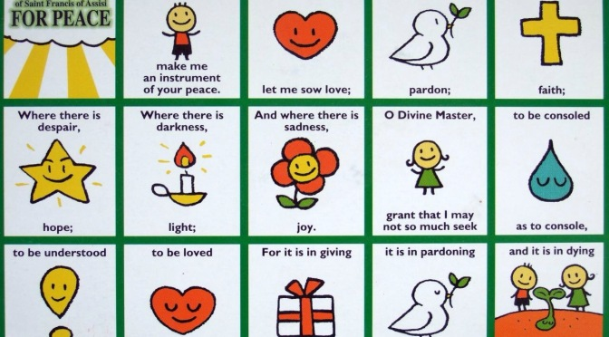Be Learning a Peace Prayer from St. Francis of Assisi