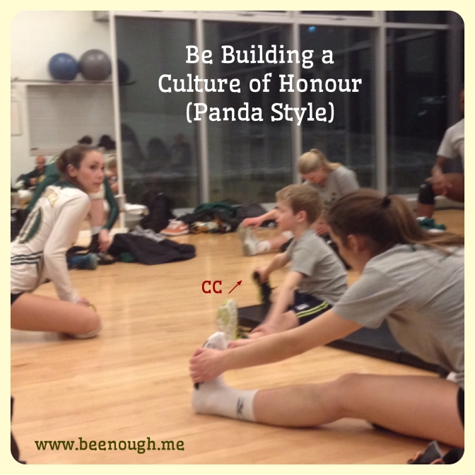Be Creating a Culture of Honour (Panda Style)