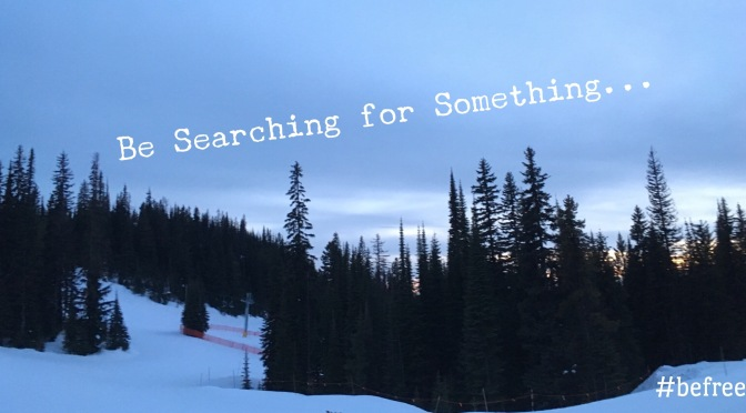 Be Searching for Something